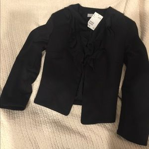 H&M Short Black Blazer with Ruffles